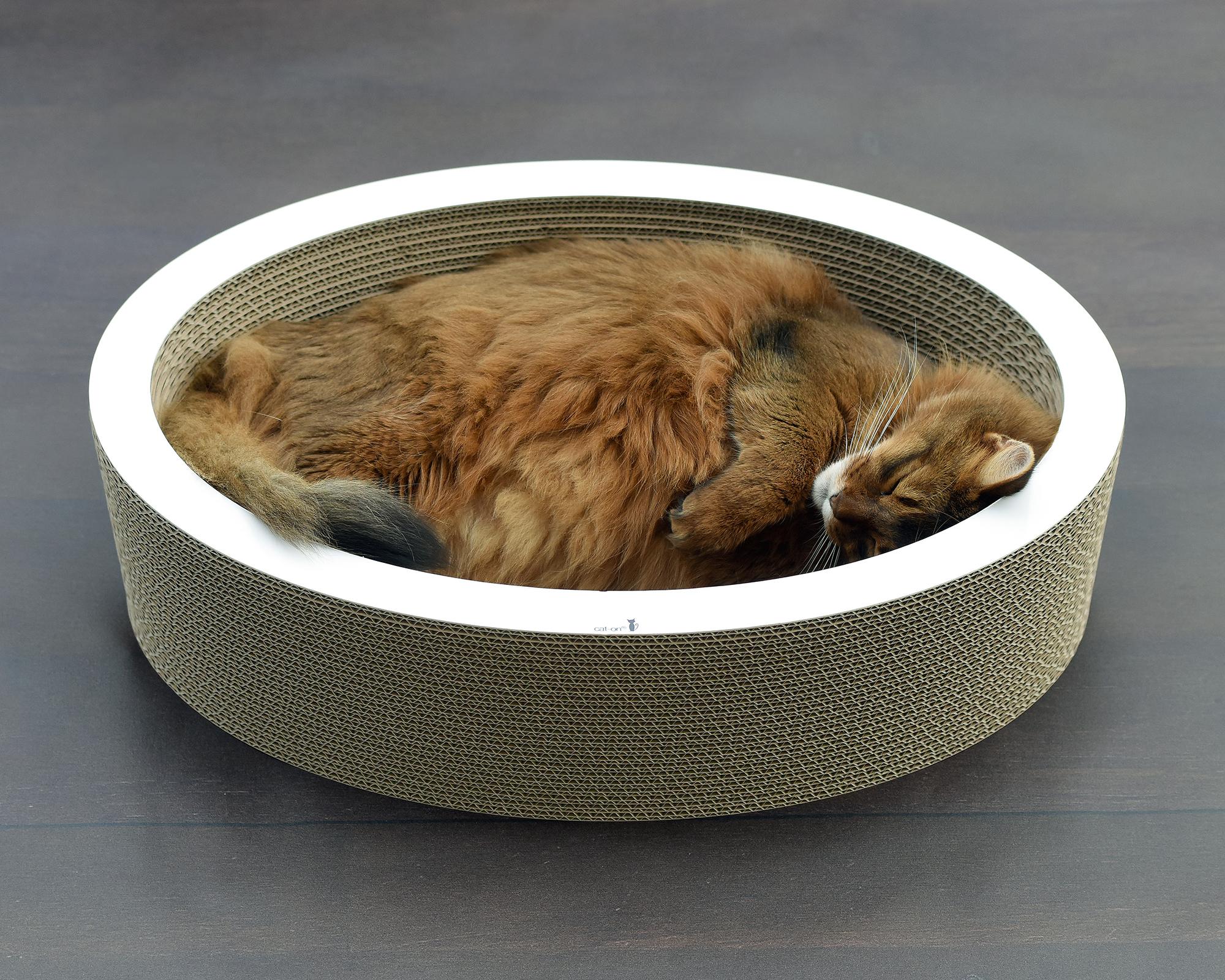 Lovale - corbeille à chat en carton ondulé