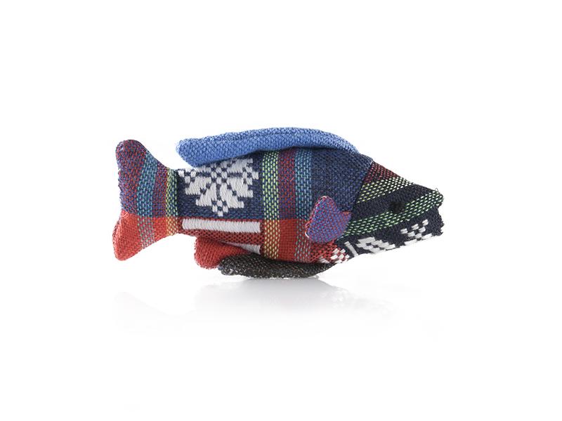 jouets pour chat souris en forme de poisson en coton avec de la valériane