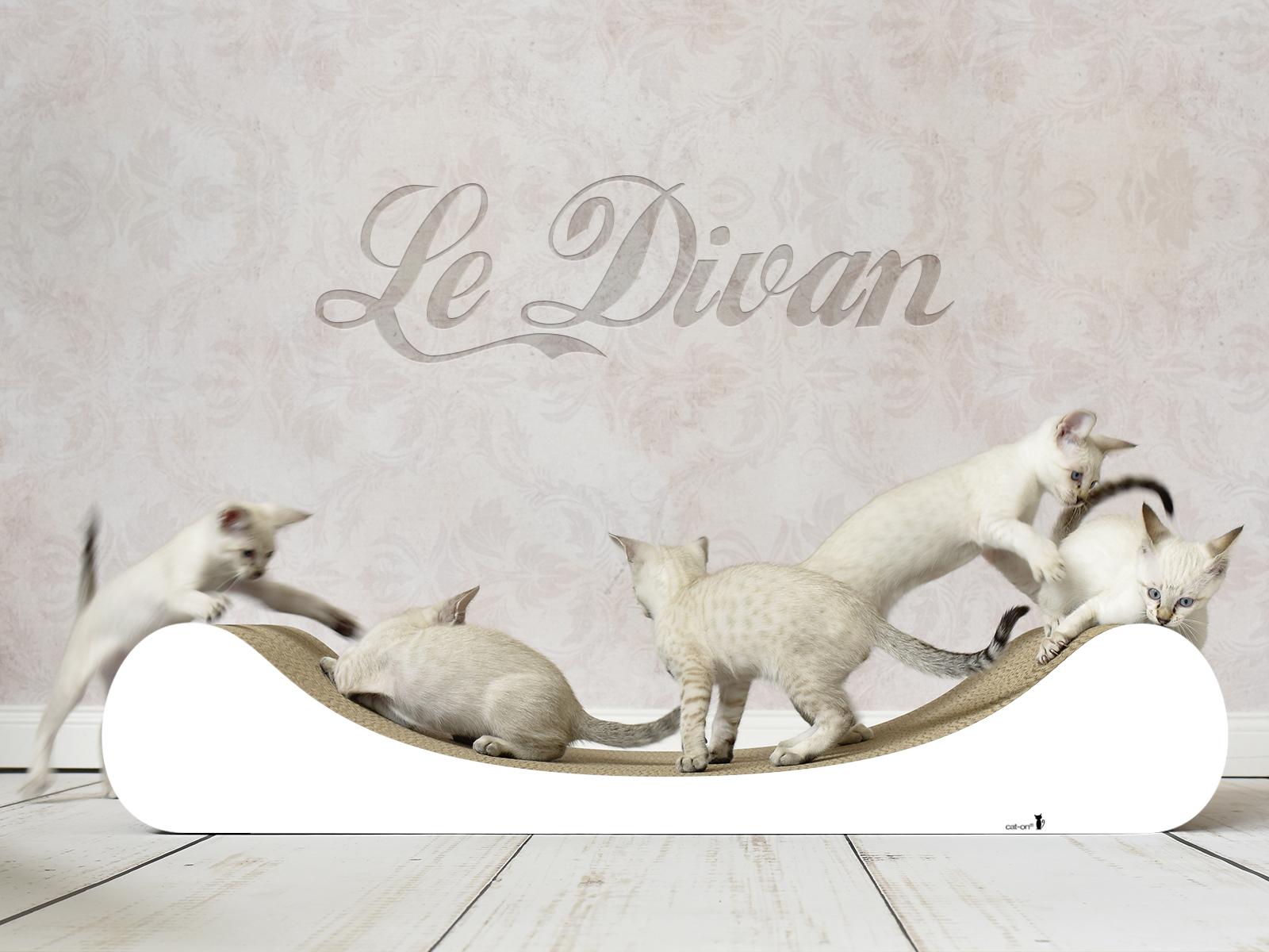 #000x - grattoir design pour chats en blanc