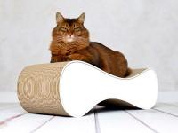 Aperçu: griffoir à chat en carton ondulé | Le Ver - 000 blanc