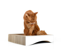 Aperçu: Kratzkorb für Katzen La Moule M in weiß