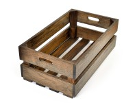 Aperçu: Holzkiste aus Eiche, in Basalt geölt