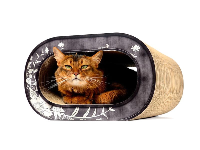 Griffoir pour chat en carton ondulé   cat-on Le Tronc, griffoir tendance