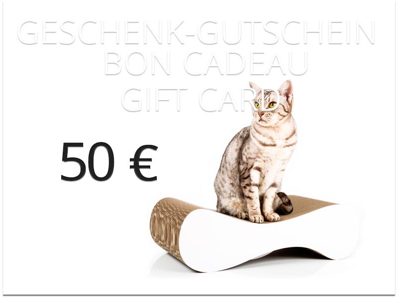 bon cadeau cat-on - valeur: 50,00 € | griffoirs pour chats