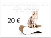 Aperçu: cat-on Geschenkgutschein im Wert von 20,00 € | Katzengeschenke