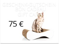 bon cadeau cat-on - valeur: 75,00 € | griffoirs en carton à chats