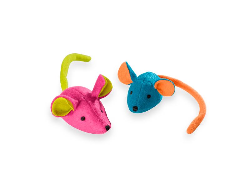 Souris colorées jouets pour chats