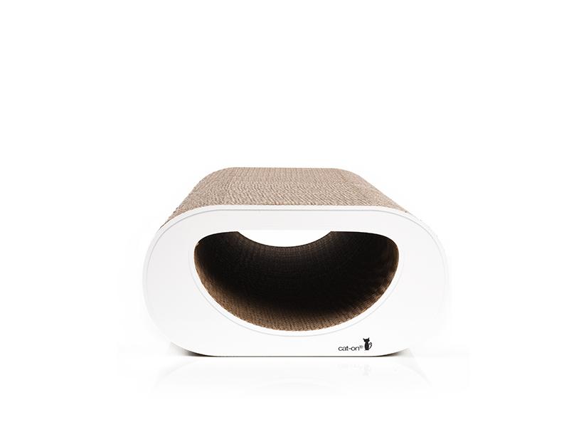 Griffoir à chat en carton Le Tunnel - couleur: 000 - blanc