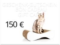 Aperçu: bon cadeau cat-on à 150,00 € | Grattoirs en carton