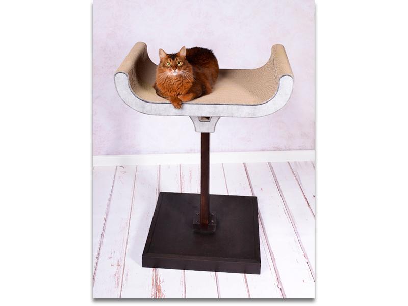Arbre à chat design | griffoir modulaire avec une base en bois masif