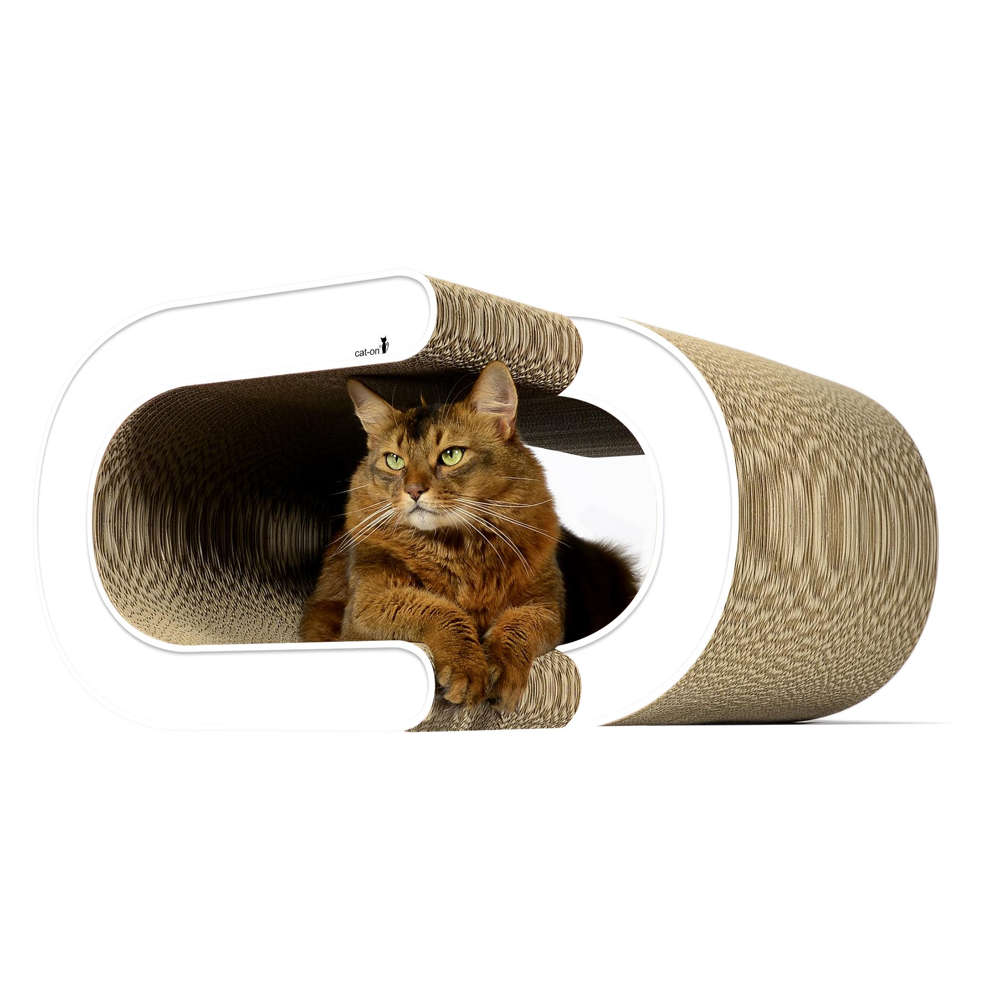 Grand griffoir cachette pour chats La Vague XL - couleur: 000 - blanc