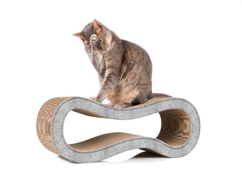 Griffoir design et écologique cat-on Singha M en carton ondulé
