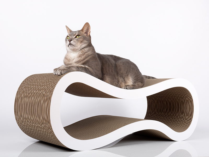 Griffoir design en carton ondulé cat-on Singha L | griffoirs pour chats