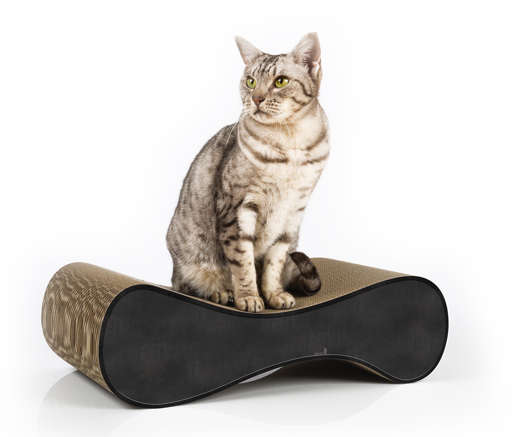 Joli griffoir design et tendance pour chats Le Ver S . couleur 013 - noir