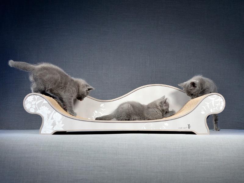 griffoir en carton ondulé Le Canapé Plus - divan pour chats