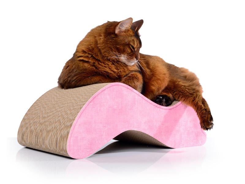 cat-on Kratzmöbel aus Kratzpappe für Katzen Kabou