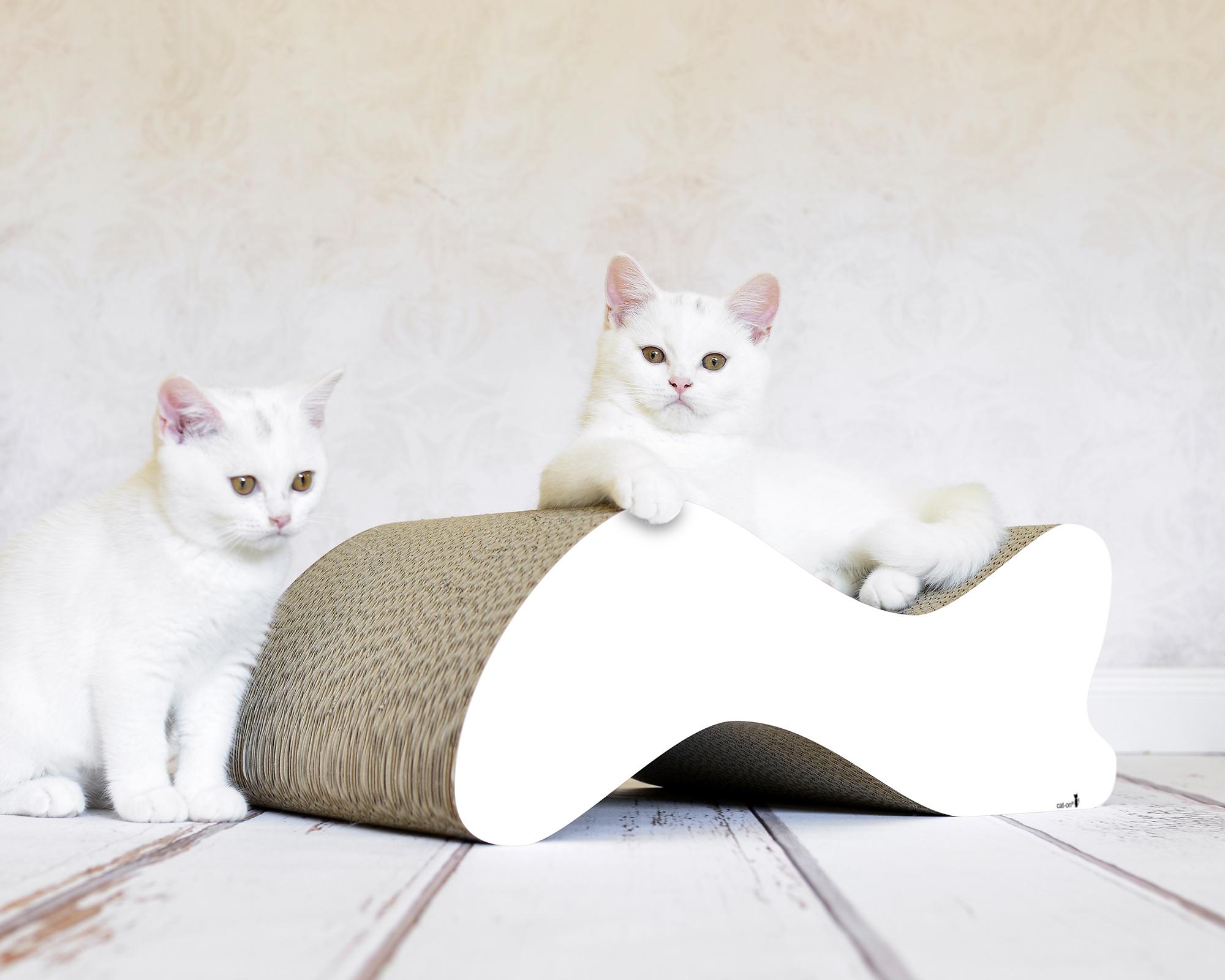 griffoir pour chat Kabou en blanc uni