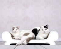 Griffoir et canapé pour chats Vertige - couleur: blanc - 000