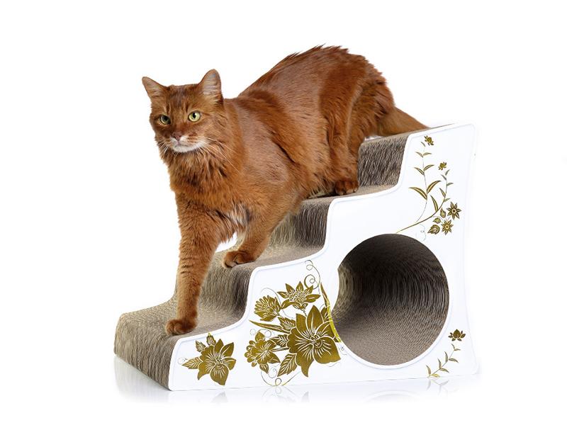 Escalier pour chats antidérapant