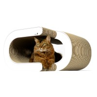 Grand griffoir cachette pour chats La Vague XL - couleur: 000 - blanc