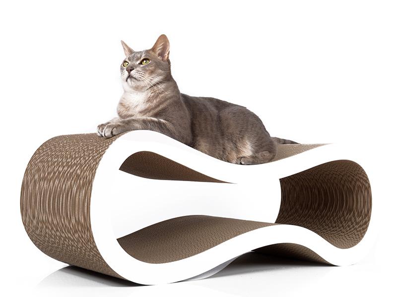 Grand griffoir pour chats en carton ondulé   griffoir Singha L