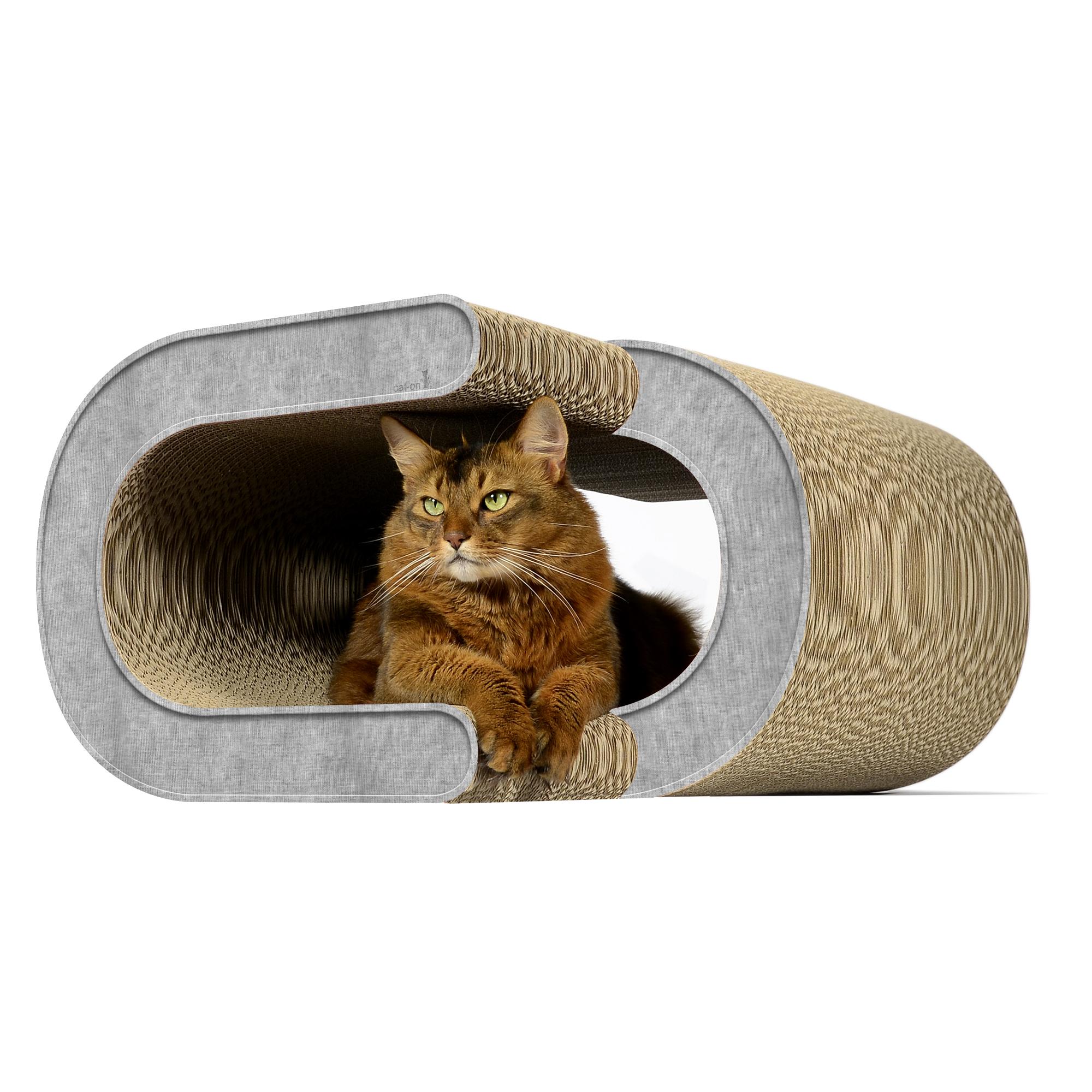 Großes Katzenkratzmöbel La Vague XL - Farbe: 001 - grau